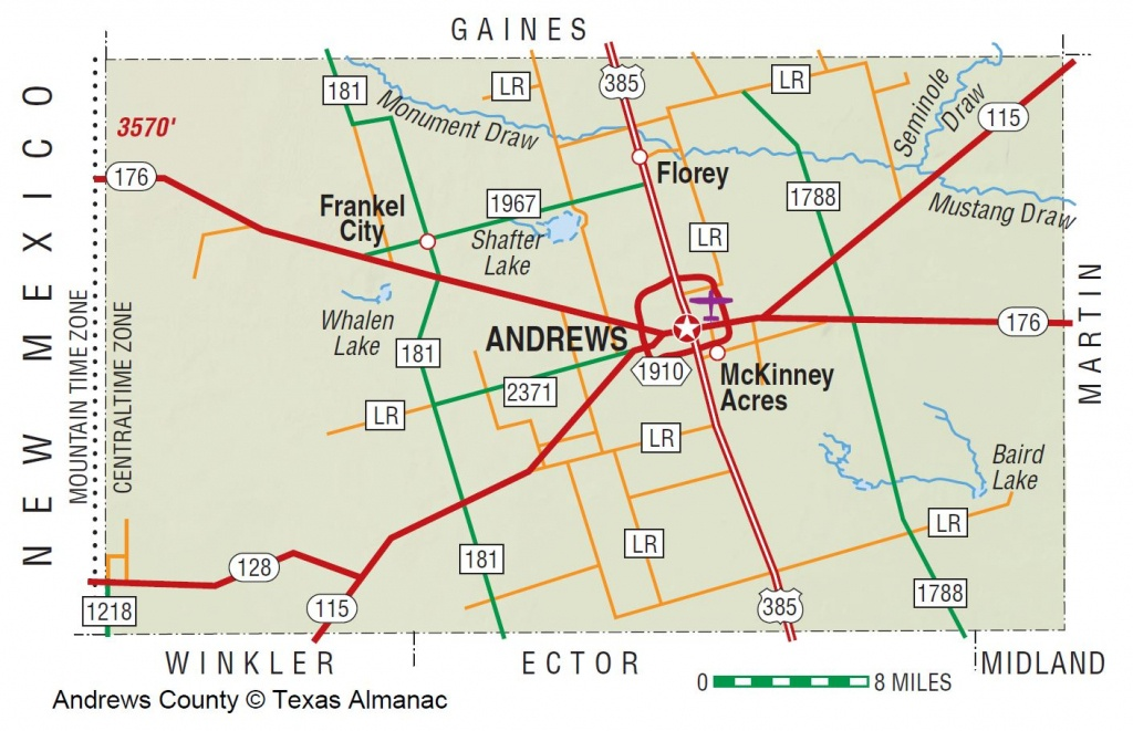Andrews County | The Handbook Of Texas Online| Texas State - Martin County Texas Section Map