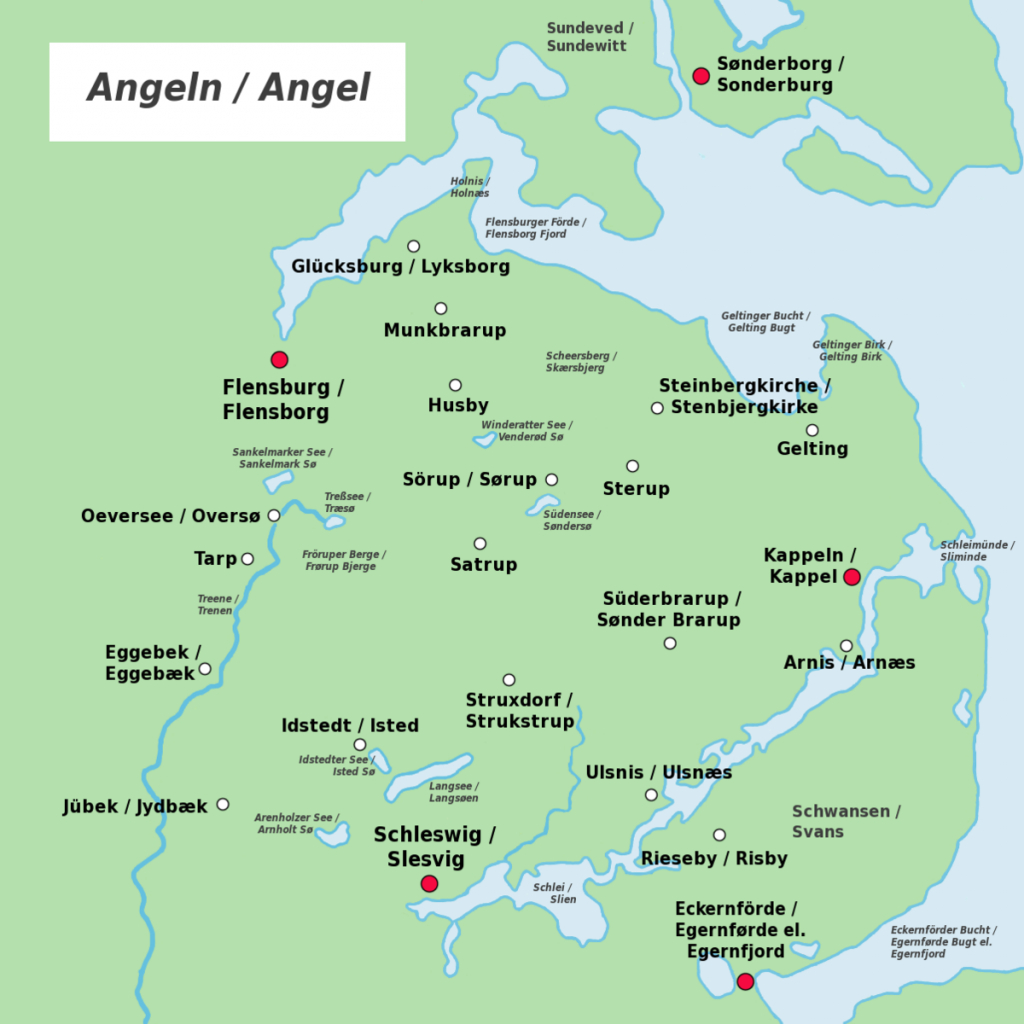 Anglia (Peninsula) - Wikipedia - Printable Map Of East Anglia