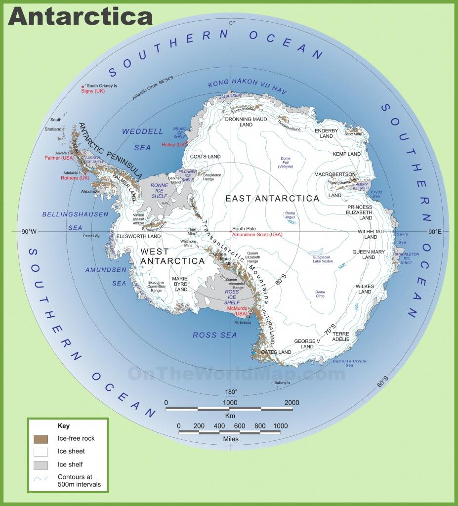 Antarctica Maps   Maps Of Antarctica - Ontheworldmap - Printable Map Of Antarctica