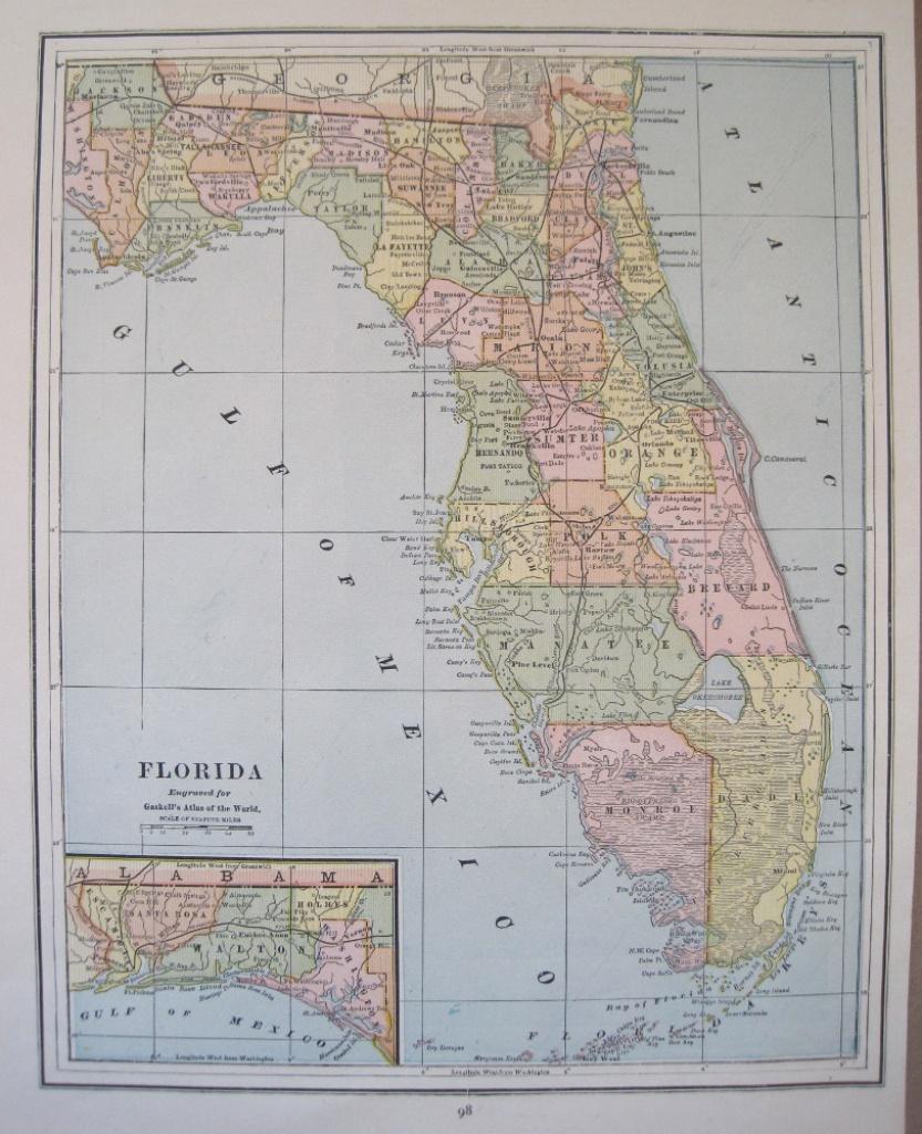 Antique Maps Of Florida - Antique Florida Maps For Sale