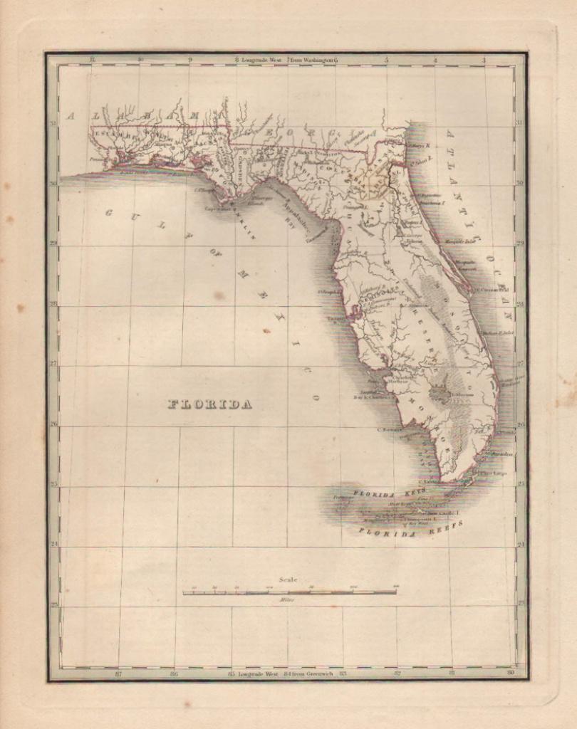 Antique Maps Of Florida - Vintage Florida Maps For Sale