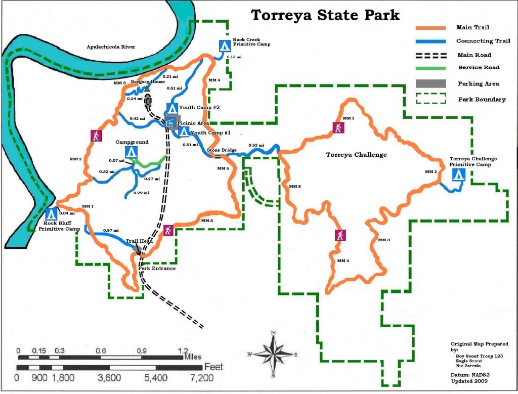 Apalachicola National Forest Campgrounds | Map Of Torreya State Park - Florida State Parks Rv Camping Map