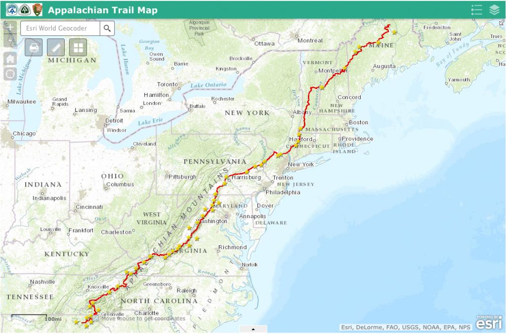Appalachian Trail Map - Appalachian Trail Guide - Printable Appalachian Trail Map