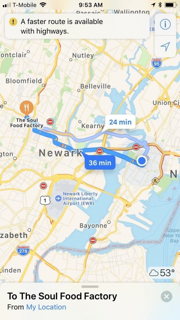 Apple Maps 101: How To Avoid Highways During Driving Directions - Printable Driving Directions Map