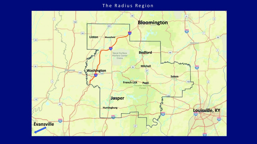 Area Maps – Radius Indiana - Printable Radius Map