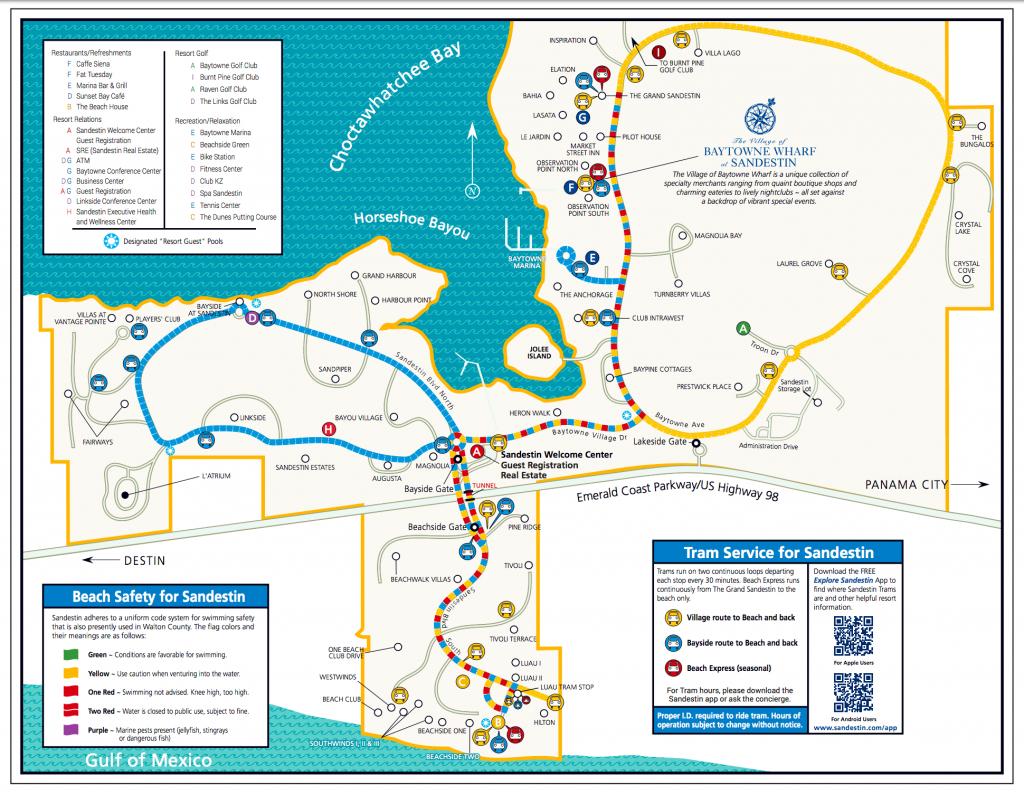 Area Maps | Sandestin Beach Maps | Hilton Sandestin Beach Golf - Sandestin Florida Map