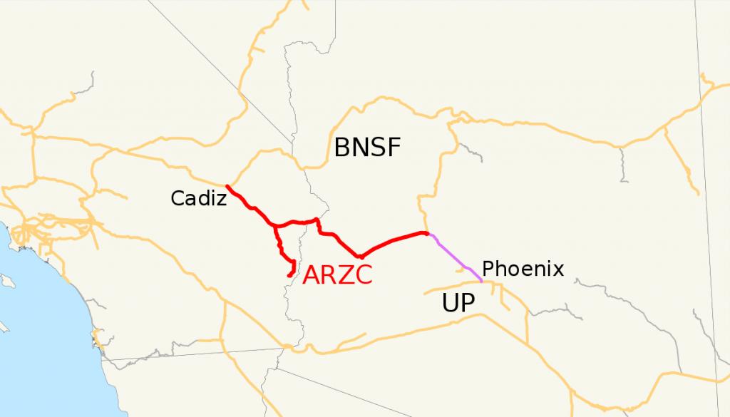 Arizona And California Railroad - Wikipedia - Earp California Map