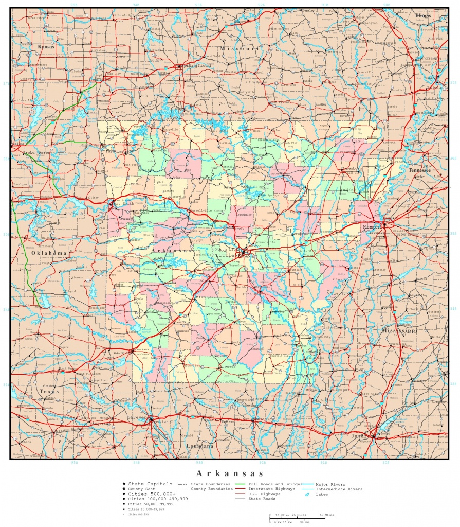 Arkansas Political Map - Printable Map Of Arkansas