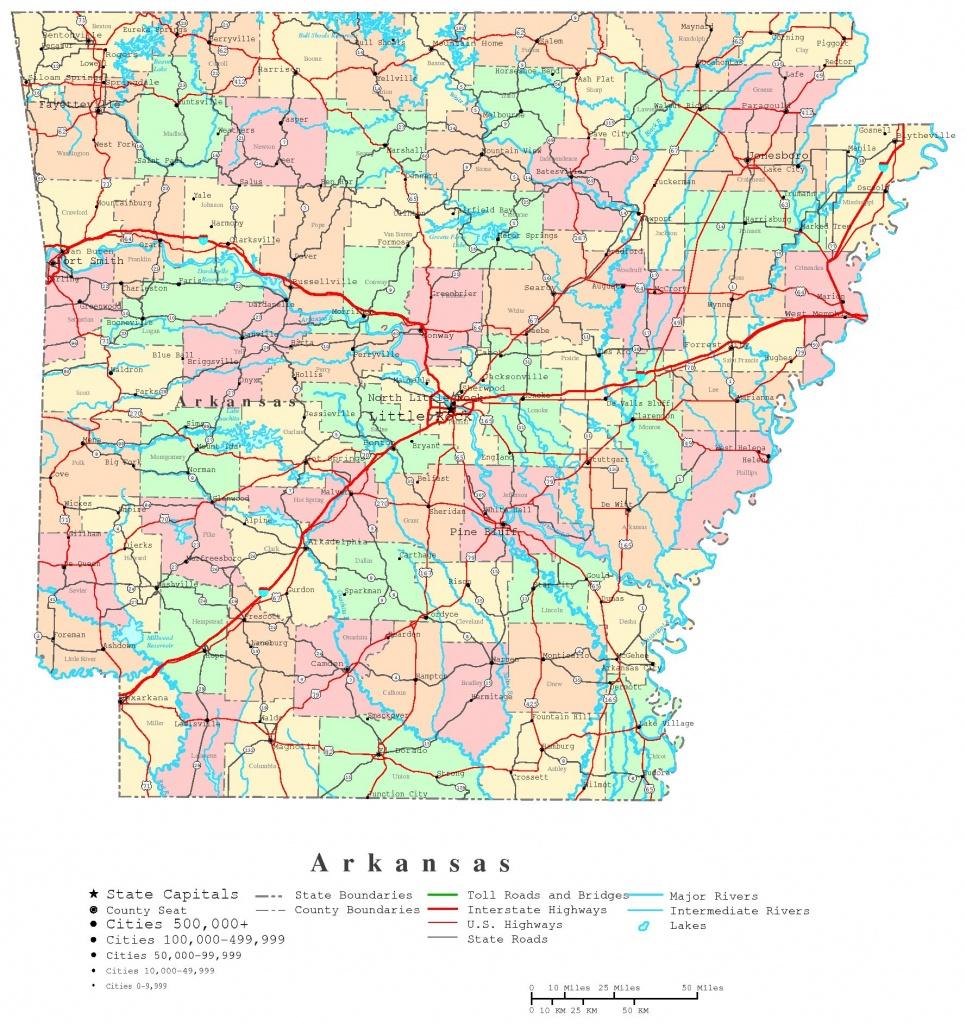 Arkansas Printable Map - Printable Map Of Arkansas