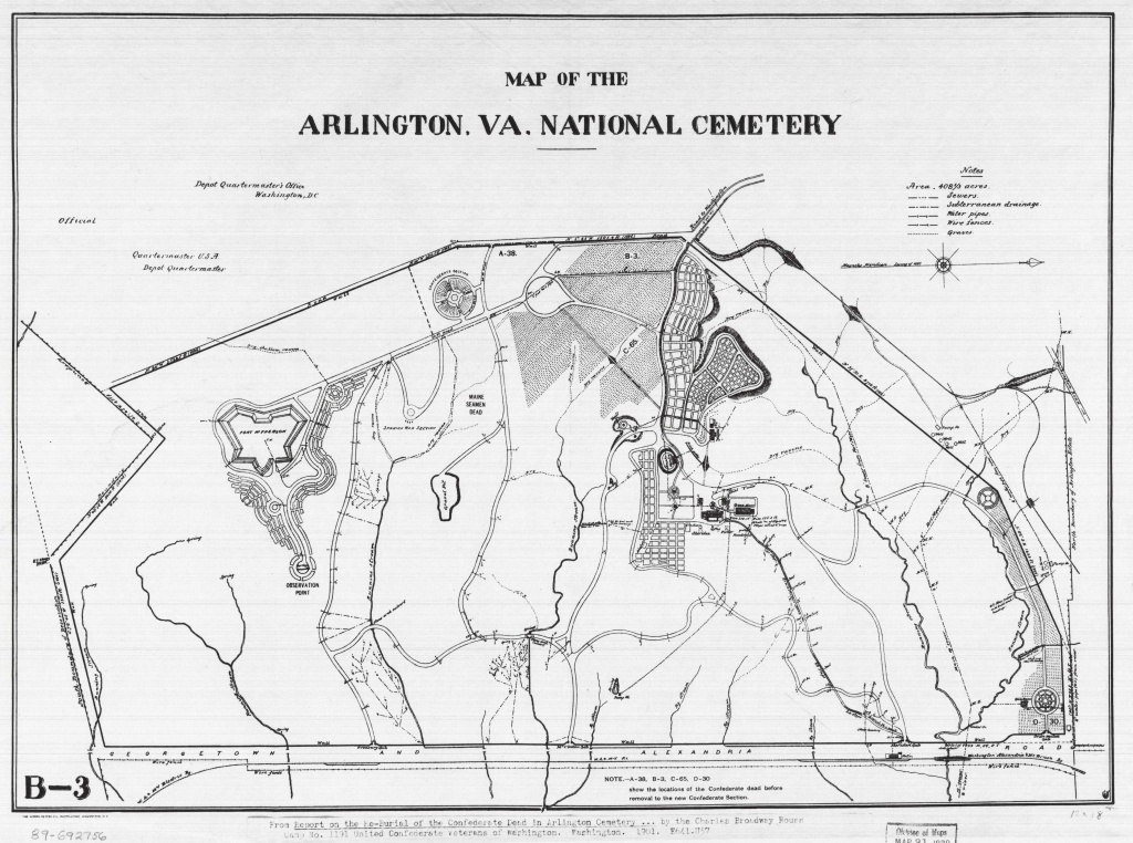 Arlington National Cemetery: Where Every Day We Remember | Worlds - Printable Map Of Arlington National Cemetery