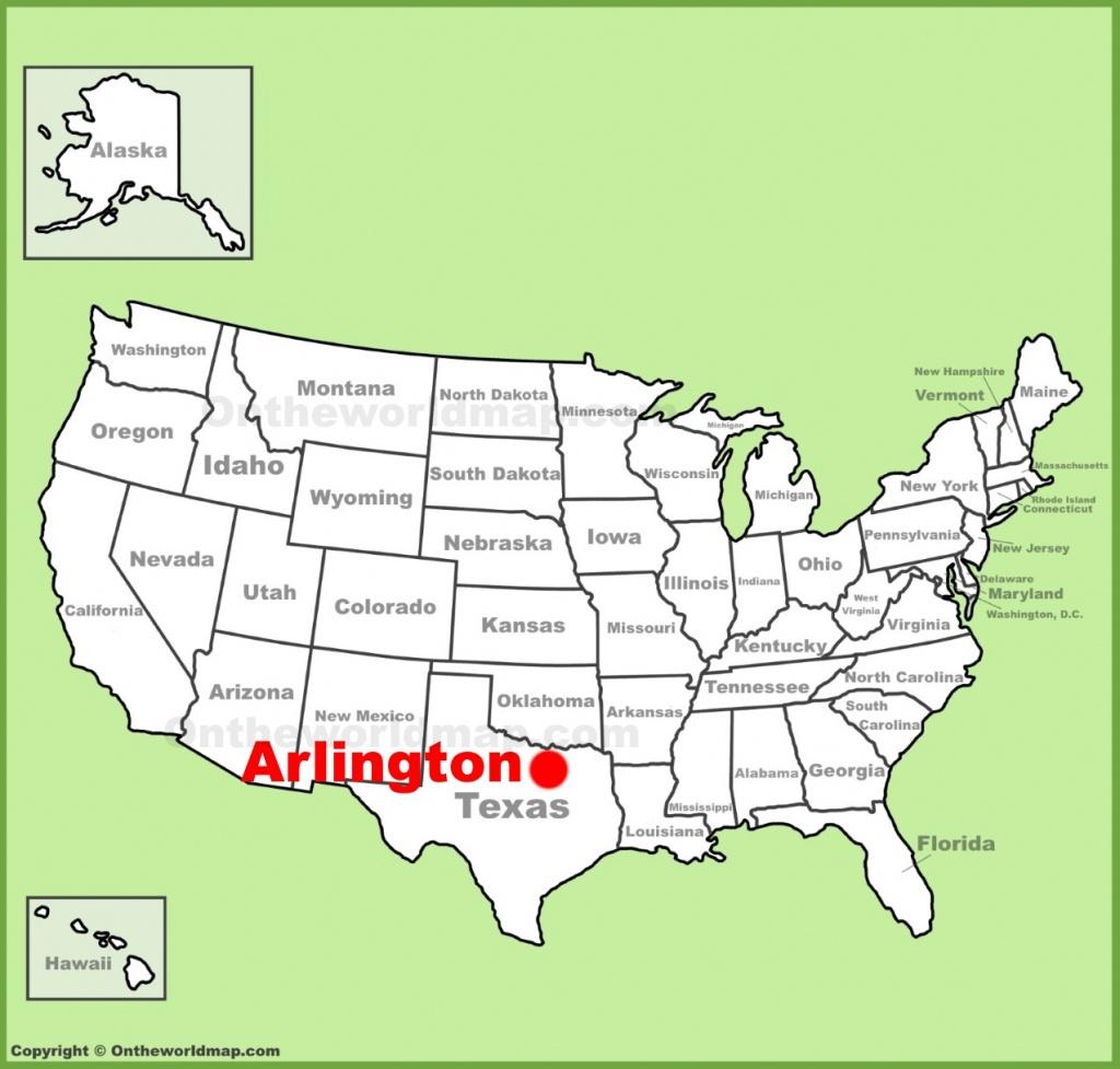 Arlington (Texas) Location On The U.s. Map - Arlington Texas Map