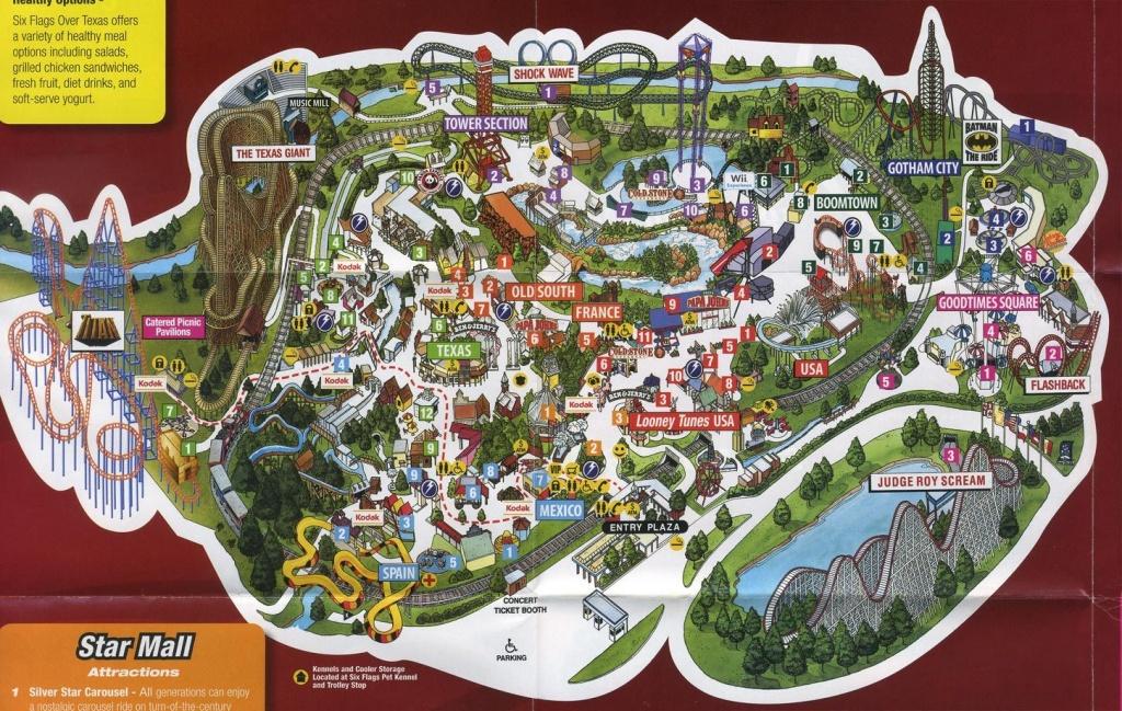Arlington Tx - Six Flags Over Tx | Texas | Texas Parks, Six Flags, Texas - Printable Six Flags Over Georgia Map