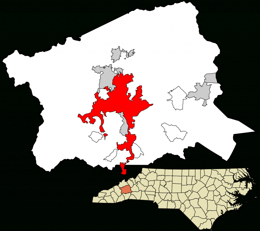 Asheville, North Carolina - Wikipedia - Printable Map Of Asheville Nc