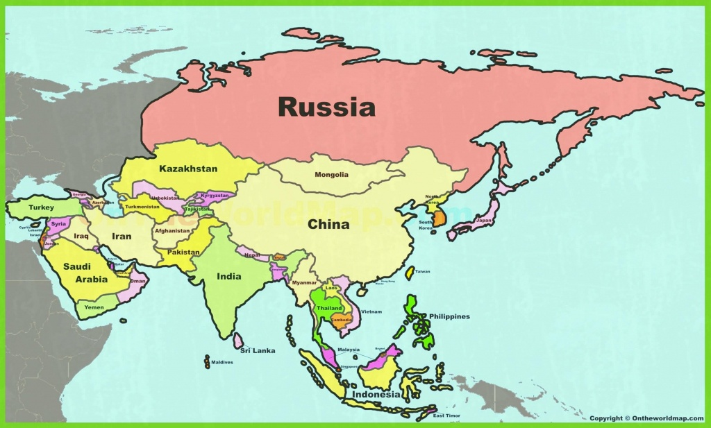 Asia Maps Of And Printable Map With Countries Labeled 0 - World Wide - Printable Map Of Asia With Countries