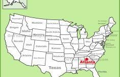 Atlanta Location On The U.s. Map – Atlanta Texas Map