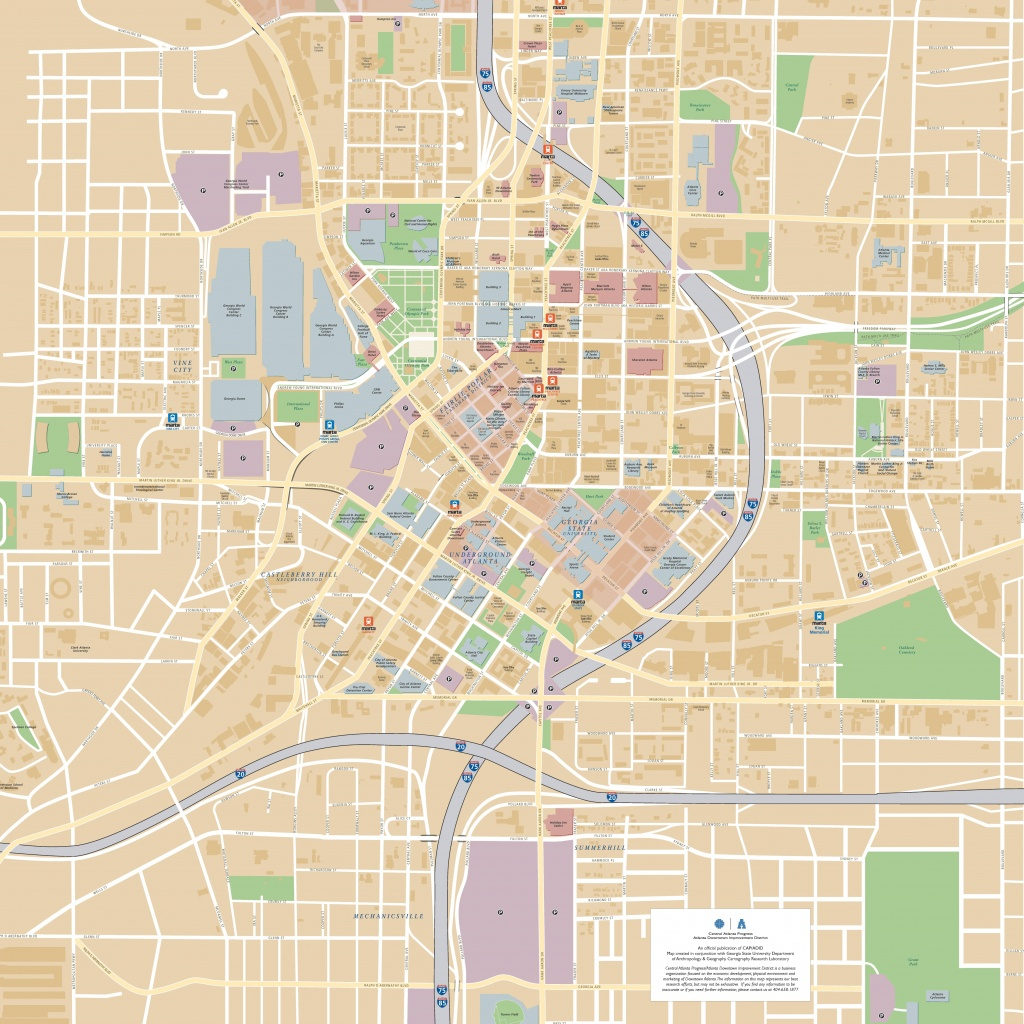 Atlanta Maps | Georgia, U.s. | Maps Of Atlanta - Printable Map Of Atlanta