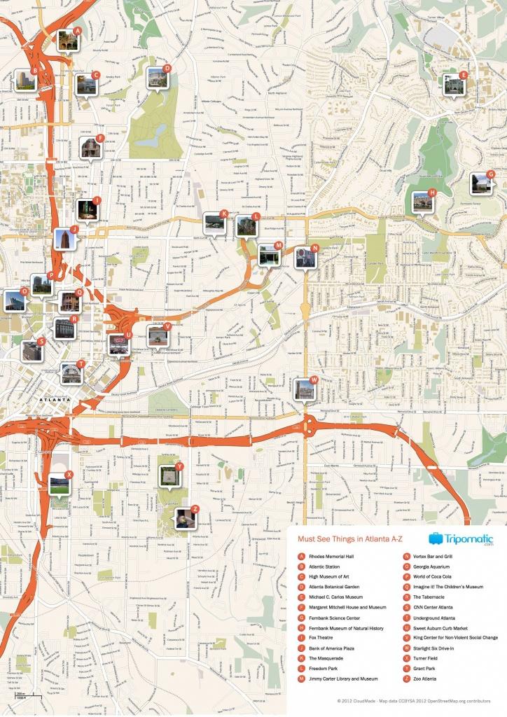 Atlanta Printable Tourist Map | Free Tourist Maps ✈ | Atlanta - Printable Map Of Columbus Ga