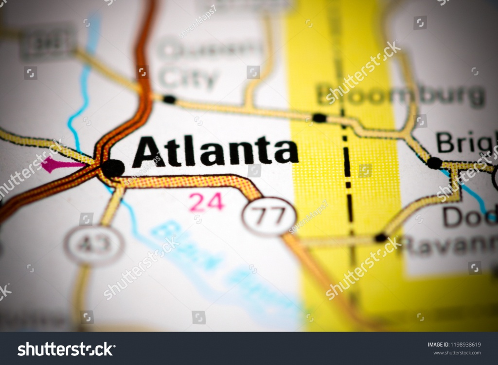 Atlanta Texas Usa On Map Stock Photo (Edit Now) 1198938619 - Atlanta Texas Map