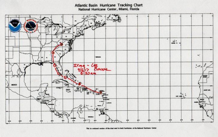 Printable Hurricane Tracking Map 2016