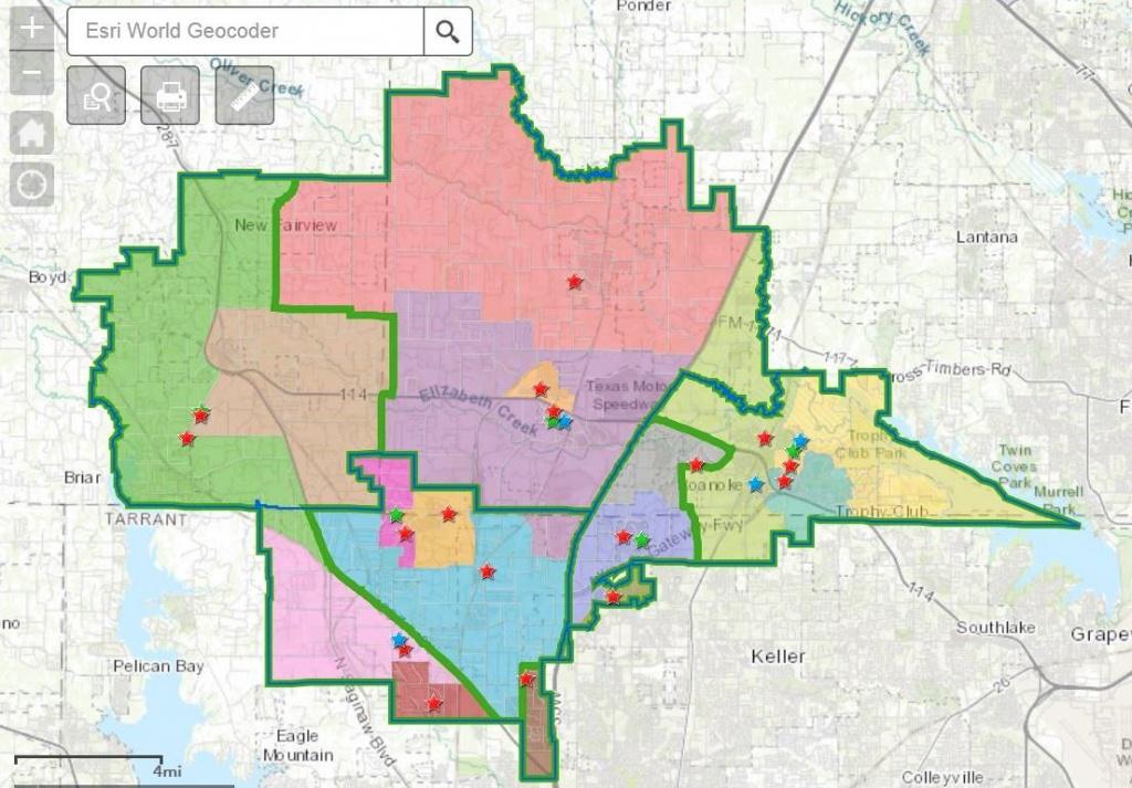Attendance Boundaries - Northwest Independent School District - Texas School District Map By Region