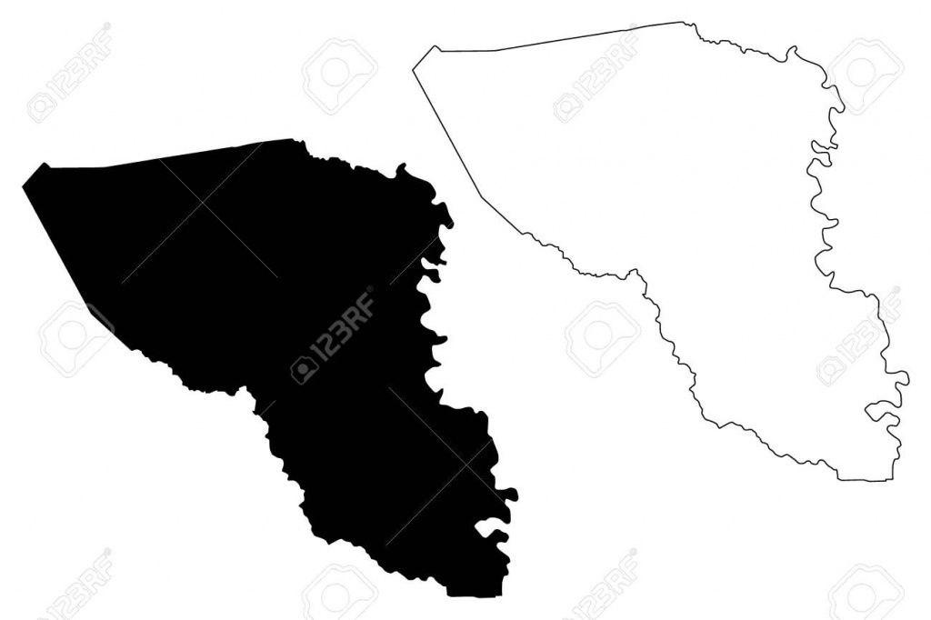 Austin County, Texas (Counties In Texas, United States Of America - Texas County Map Vector