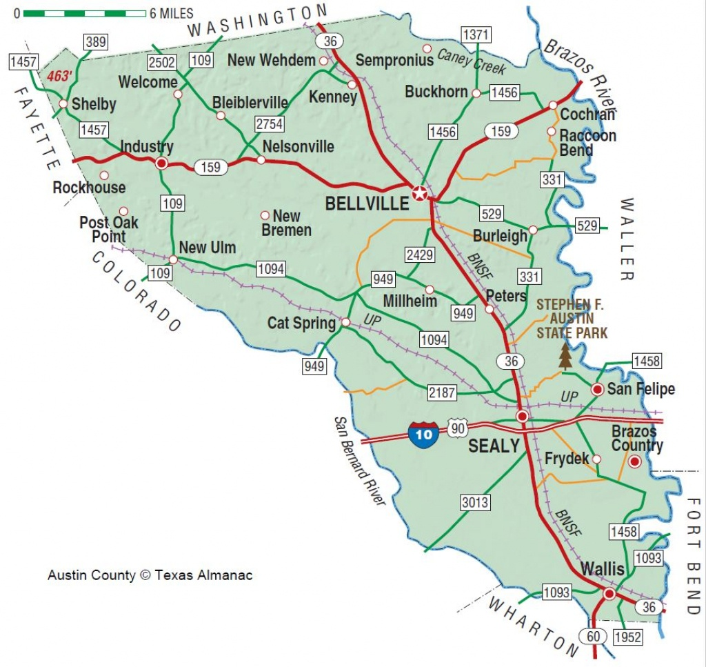 Austin County   The Handbook Of Texas Online  Texas State Historical - Austin County Texas Map