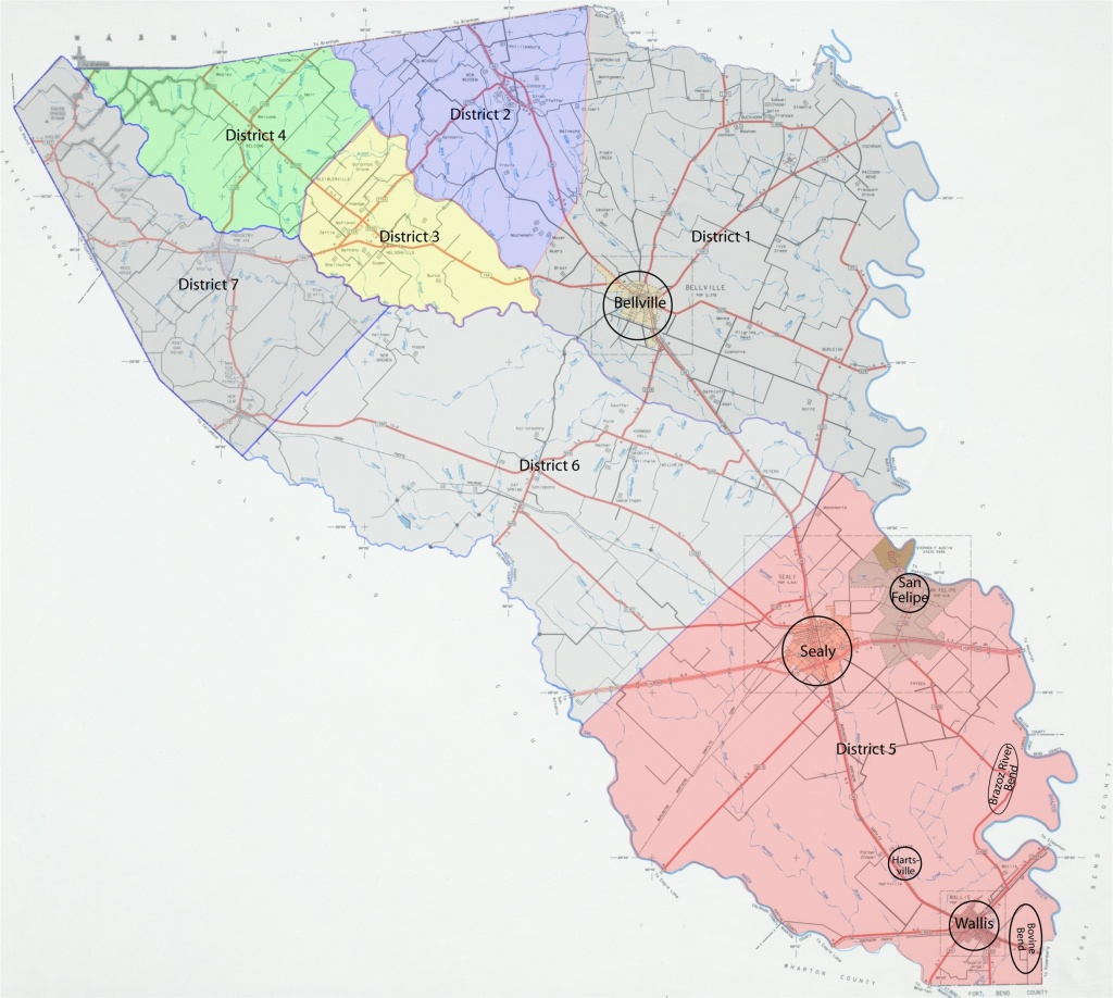 Austin County Txgenweb - Austin County Texas Map