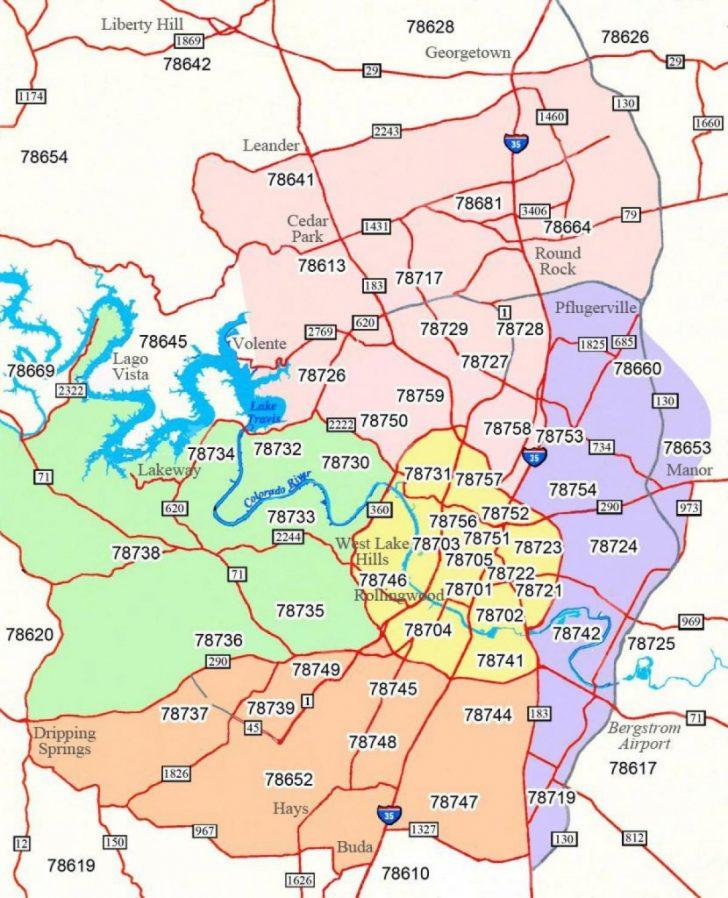Austin Tx Map Of Texas