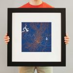 Austin, Texas Map Art   City Prints   Texas Map Framed Art