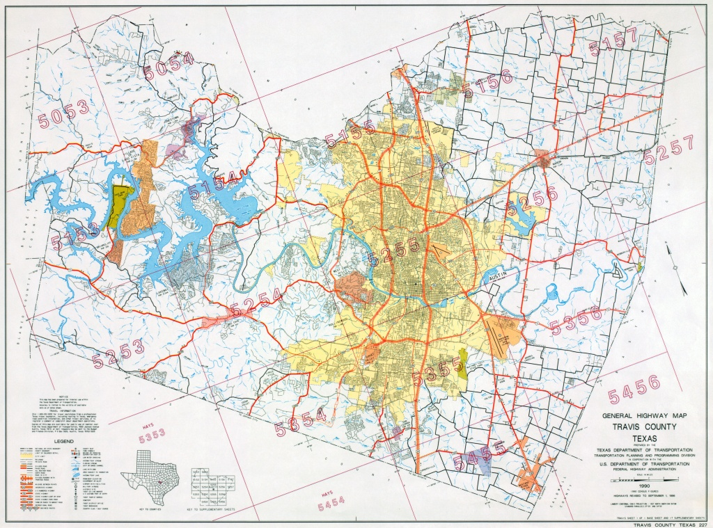 Austin, Texas Maps - Perry-Castañeda Map Collection - Ut Library Online - Texas Property Lines Map
