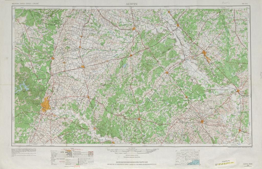 Austin, Texas Topographic Maps - Perry-Castañeda Map Collection - Ut - Printable Topo Maps Online