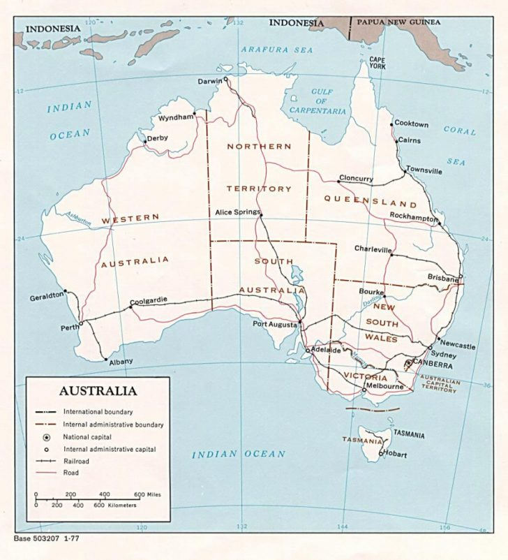 Free Printable Map Of Australia