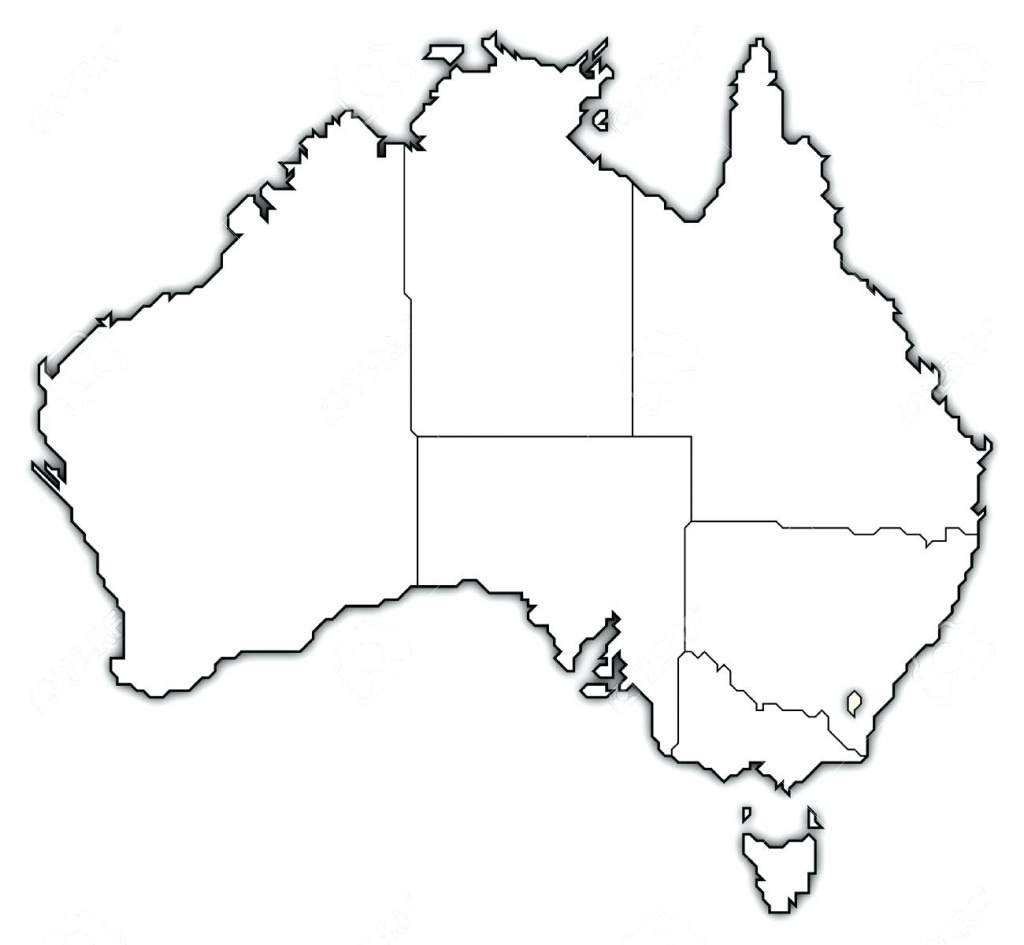Australian Map Blank Australia Blank Map Images – Cartofix.club - Blank Map Of Australia Printable