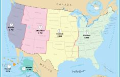 Canada Time Zone Map Printable