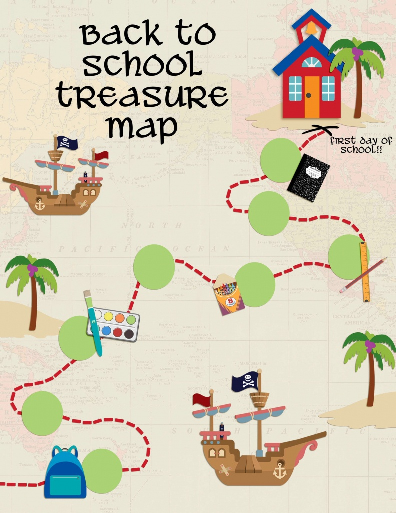 Back To School Treasure Map - Your Everyday Family - Children's Treasure Map Printable