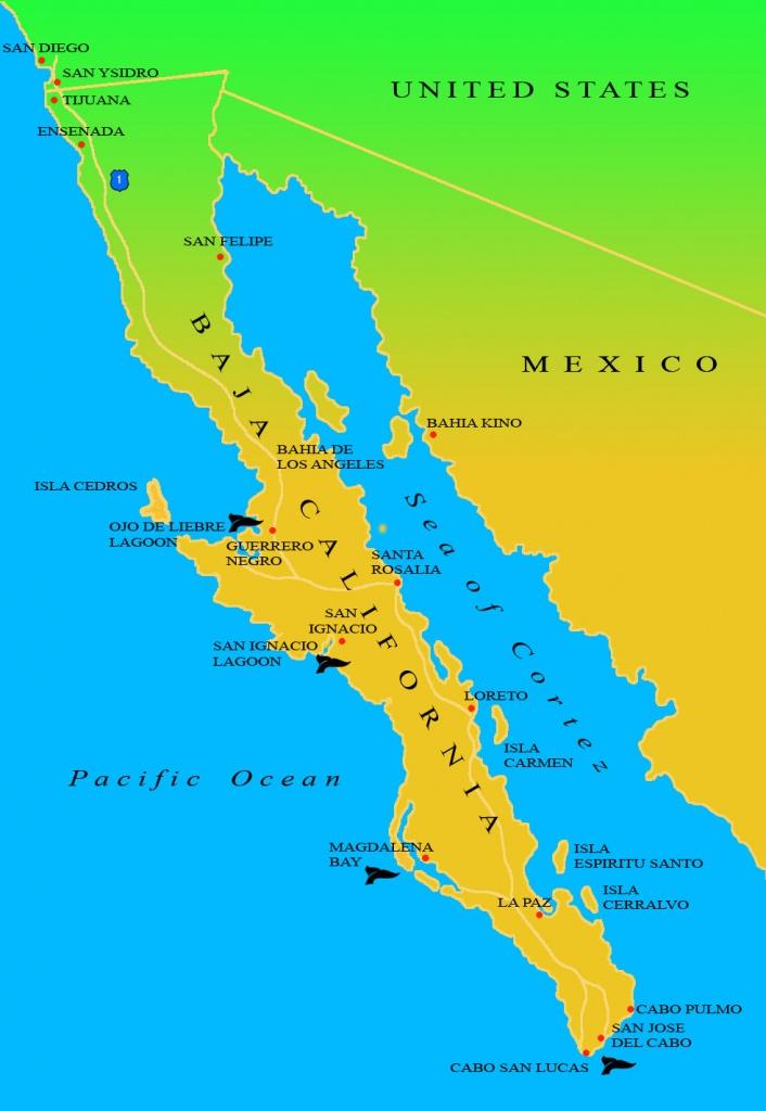 Baja Ecotours   Maps Of Baja California - Map Of Baja California Mexico