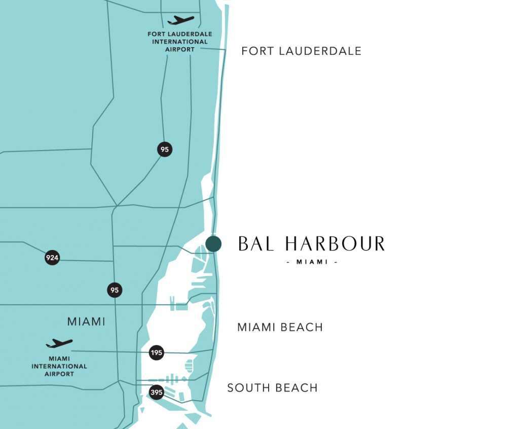 Bal Harbour Map And Guide To Hotels Near South Beach, Miami - Miami Florida Map
