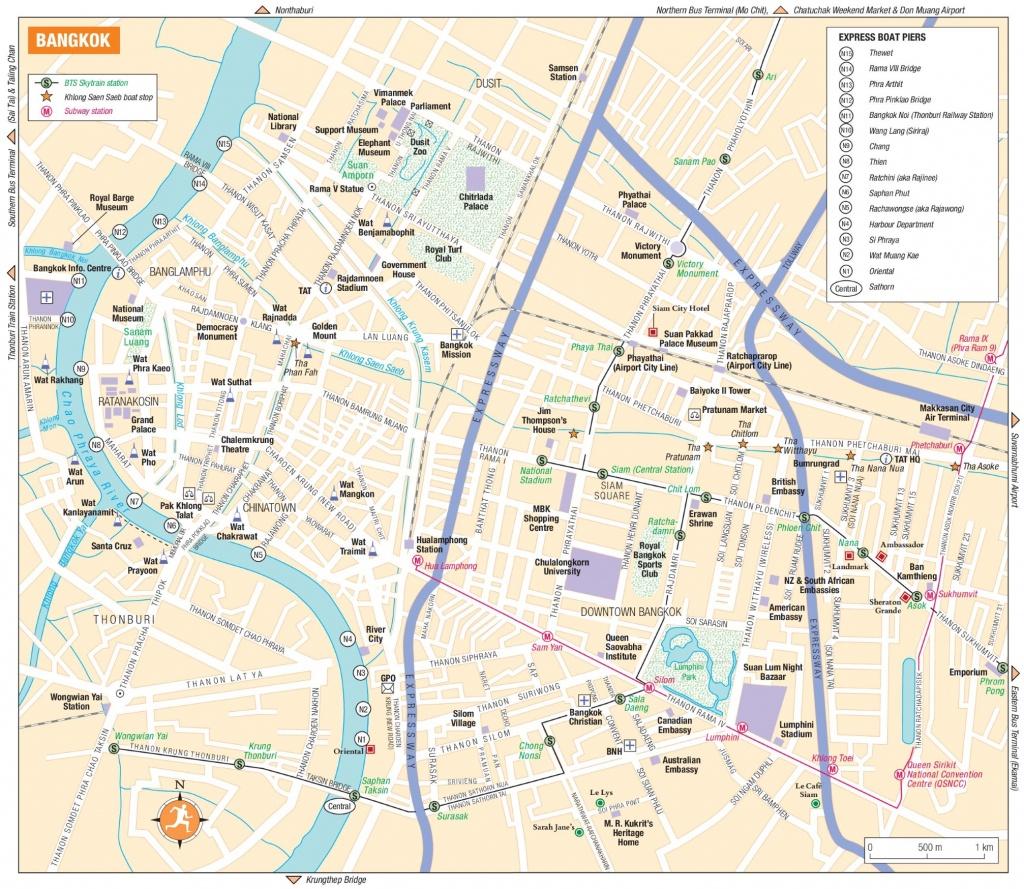 Bangkok Tourist Map - Bangkok Tourist Map Printable