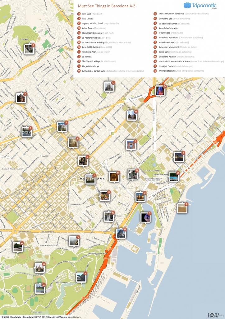 Barcelona Printable Tourist Map In 2019 | Barcelona | Barcelona - Printable Map Of Barcelona