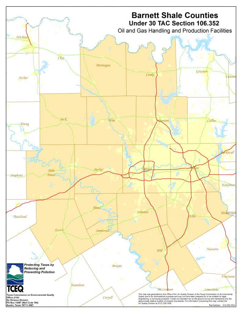Barnett Shale Maps And Charts - Tceq - Www.tceq.texas.gov - Erath County Texas Map