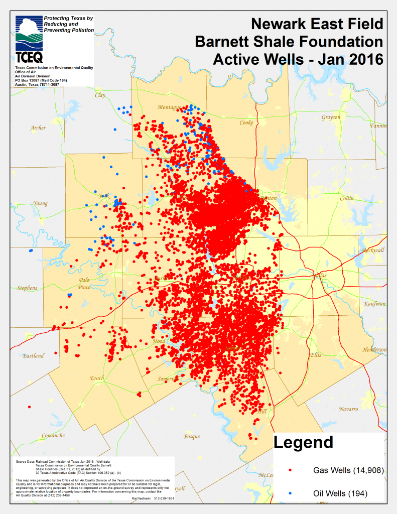 Barnett Shale Maps And Charts - Tceq - Www.tceq.texas.gov - Texas Oil Fields Map