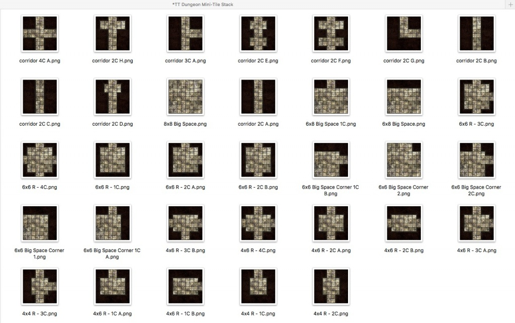 Basic Dungeon Tiles - What's In The Sets? - Printable D&d Map Tiles