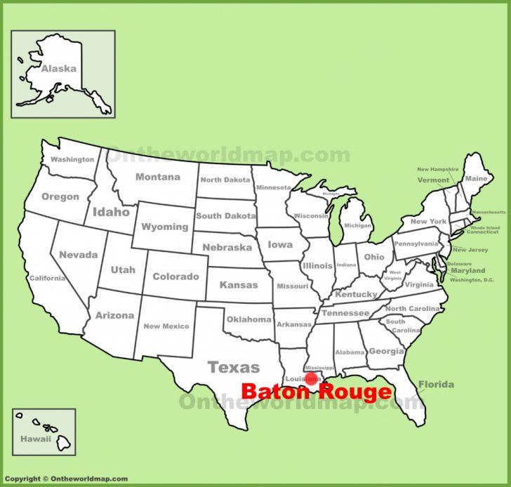 Printable Map Of Baton Rouge