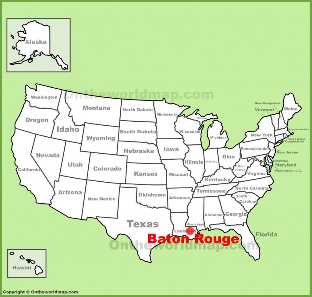 Baton Rouge Maps | Louisiana, U.s. | Maps Of Baton Rouge - Printable Map Of Baton Rouge
