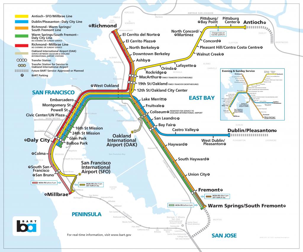 Bay Area Rapid Transit Expansion - Wikipedia - Printable Bart Map