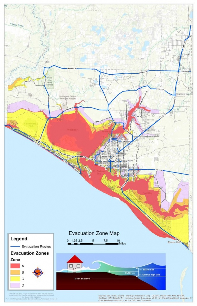 """Bay County Fl Em On Twitter: """"here Is A Map With The Evacuation - Bay County Florida Gis Maps"""
