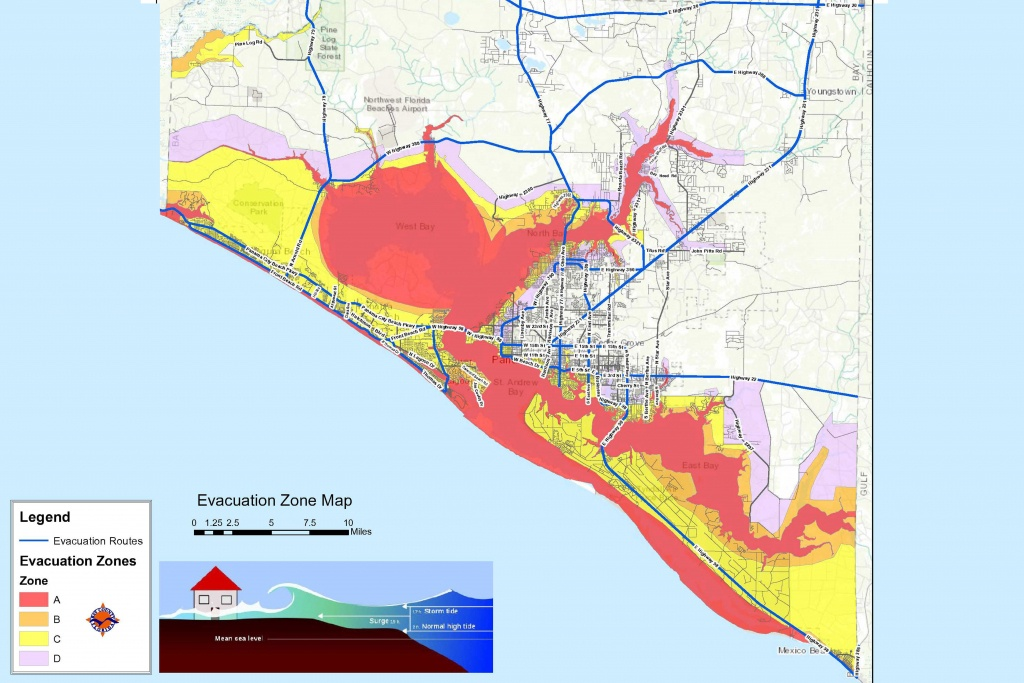 Bay County Issues Mandatory Evacuation Orders For Zones A, B And C - Florida Evacuation Route Map