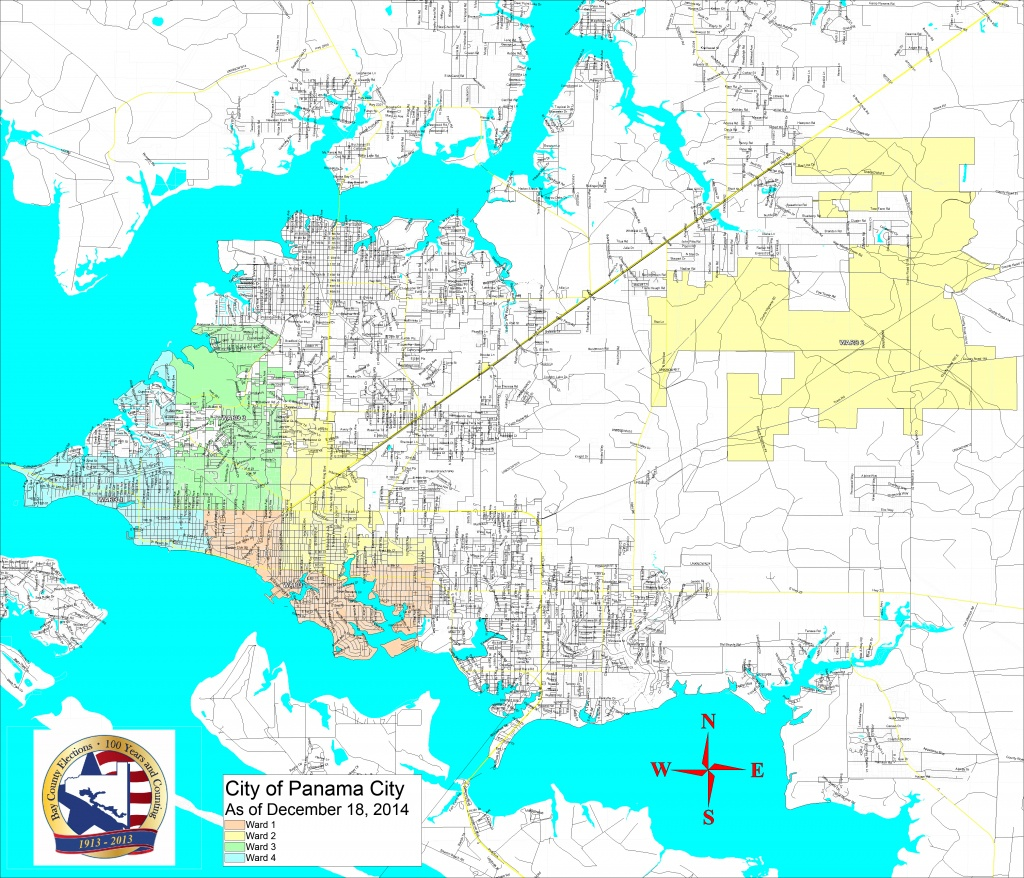 Bay County Supervisor Of Elections > Voter Info > Maps And Boundaries - Map Of Panama City Florida And Surrounding Towns