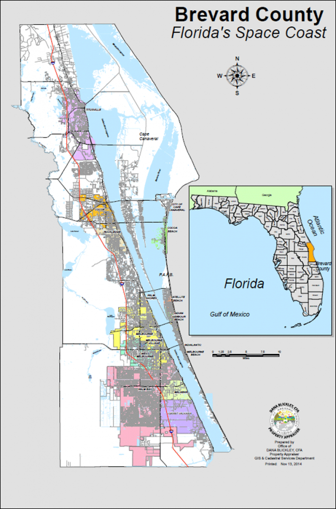 Bcpao - Maps & Data - Indian Harbour Beach Florida Map