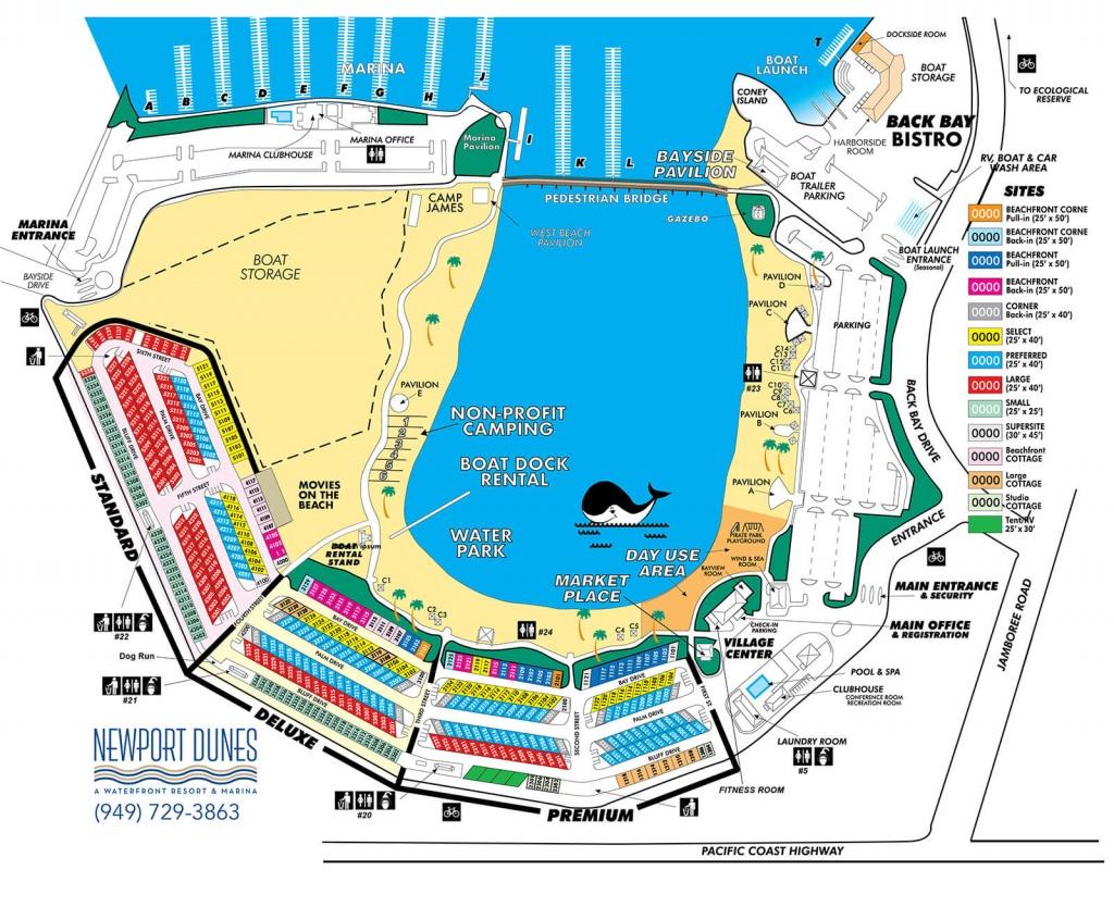 Beachfront California Rv Resort   Newport Dunes Waterfront Resort - California Rv Resorts Map